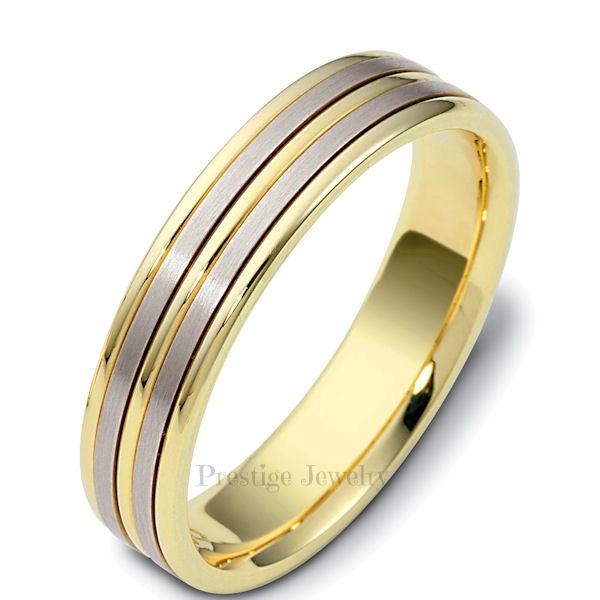 handmade two tone wedding band - Two Tone Wedding Rings