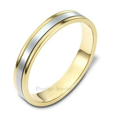 womens two tone wedding bands - Two Tone Wedding Rings